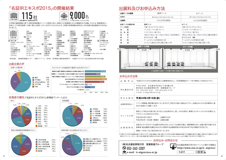 名古屋証券取引所 IR EXPO案内用パンフレット制作